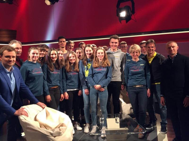 Schülerkader des Skiverbands Schwarzwald zu Gast bei