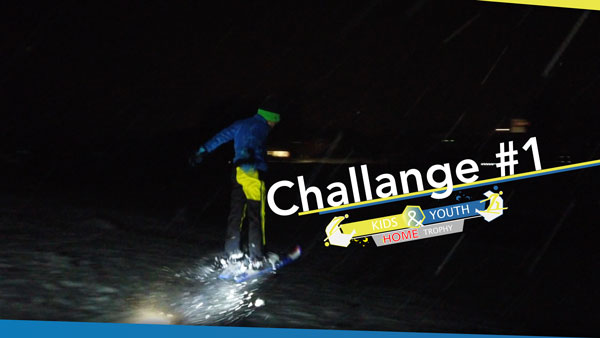 Challange #1 - Sprung mit Kurzski auf Minischanze - Schwerpunkt Anfahrt
